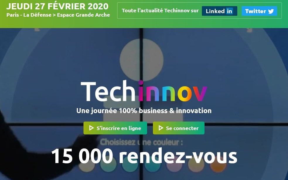 TECHINNOV 2020, Salon rencontres de l'innovation