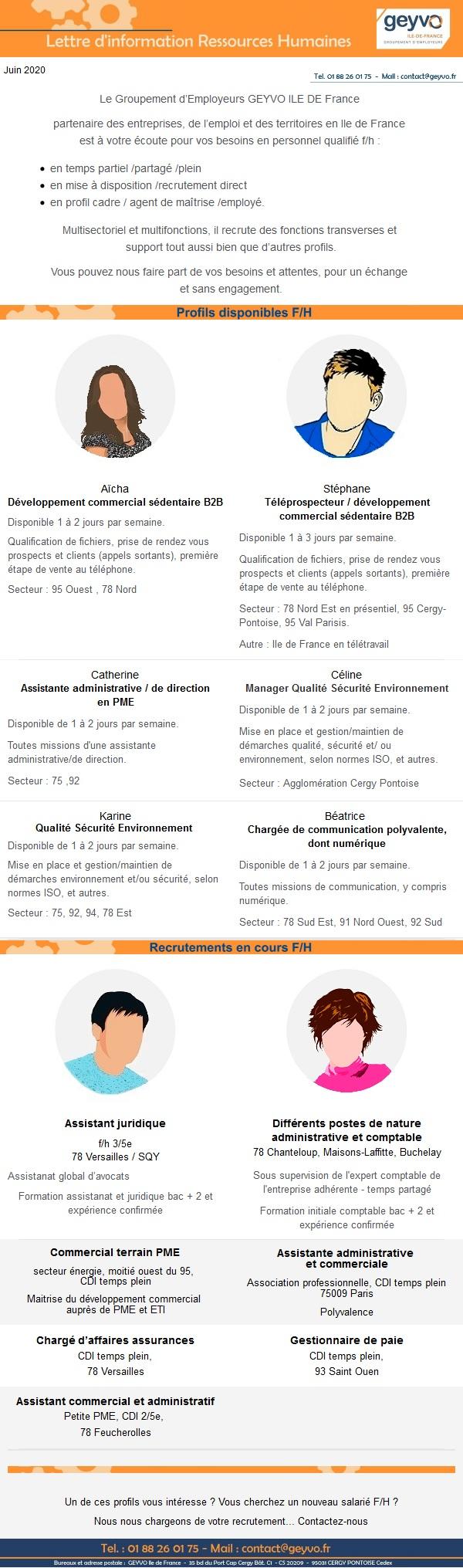 """Lettre """"Compétences et recrutements"""" Juin 2020"""