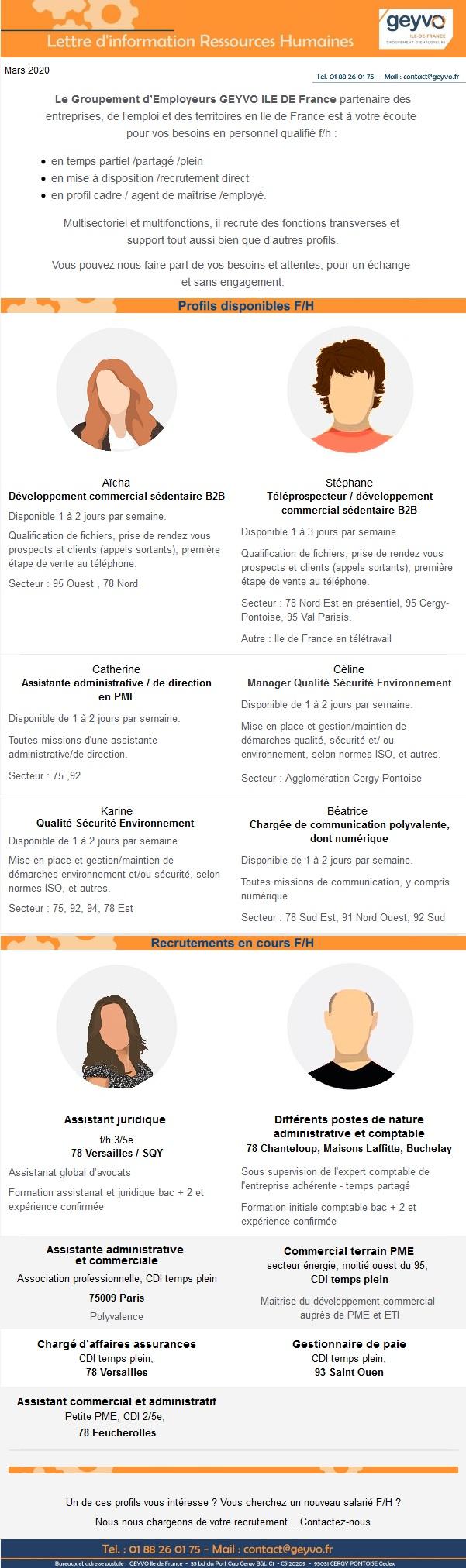 """Lettre """"Compétences et Recrutements"""" Mars 2020"""