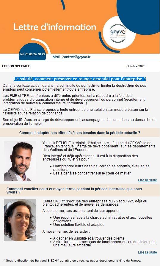 Lettre Actus - Octobre 2020 - Edition spéciale