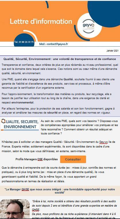 Lettre d'actus Geyvo Ile de France - janvier 2021