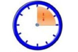 Horloge marquant 1/4 h