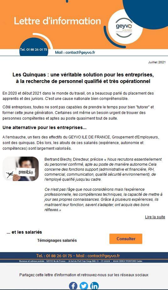 Lettre d'Actus Geyvo Ile de France, juillet 2021