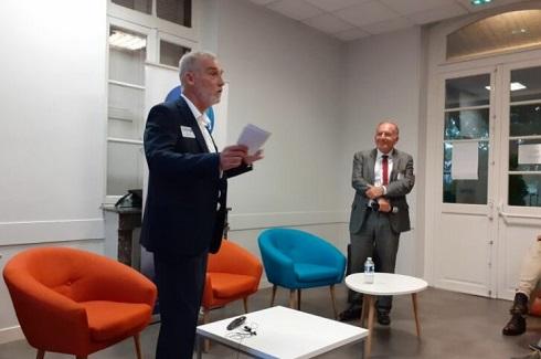 Pierre Gattaz au Club des Entrepreneurs 92 avec le Geyvo Ile de France